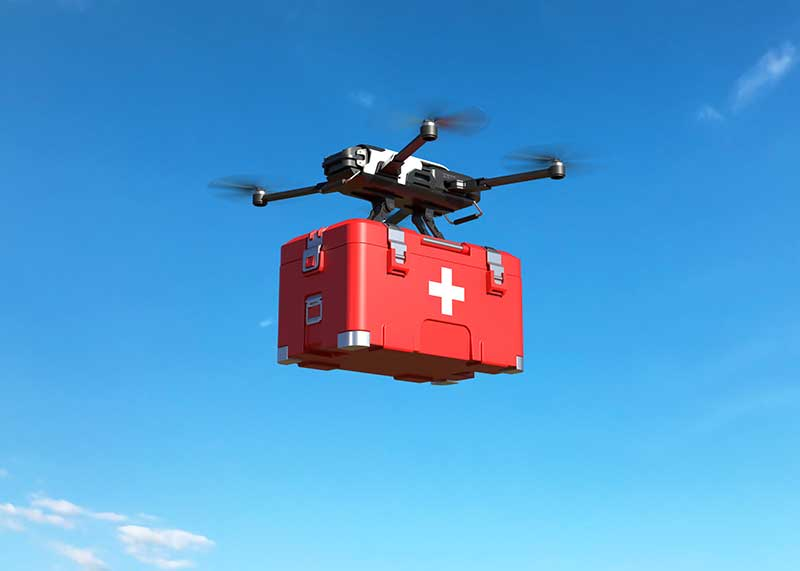 Drones have the capability to make medicine deliveries easier